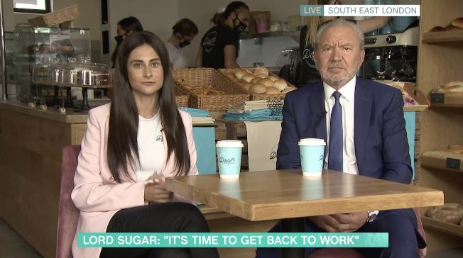 Alan Sugar Clashes With Phillip Schofield In This Morning Coronavirus Debate