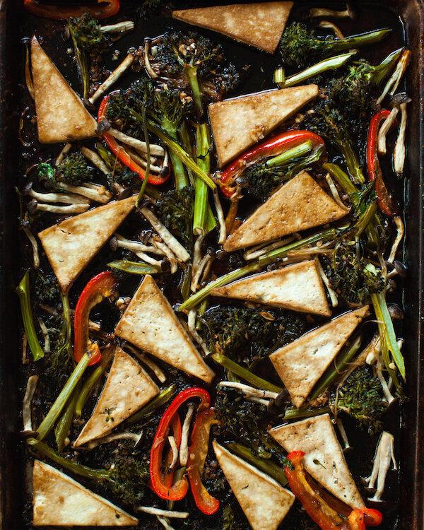 One-Pan Maple Teriyaki Tofu & Veggies from Sweet Potato Soul