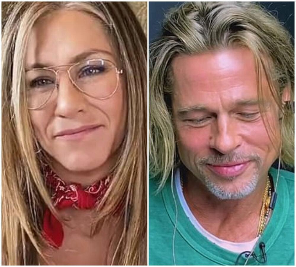 Brad Pitt And Jennifer Aniston Reunite – And Things Got Flirty