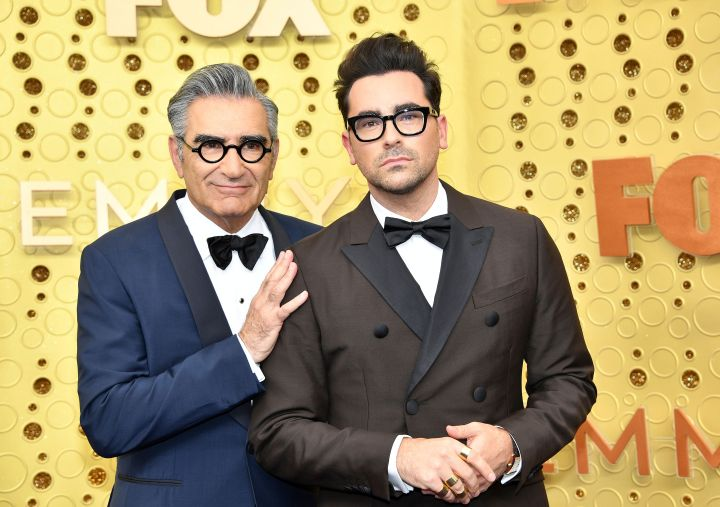 Eugene Levy and Daniel Levy at the 2019 Emmy Awards.