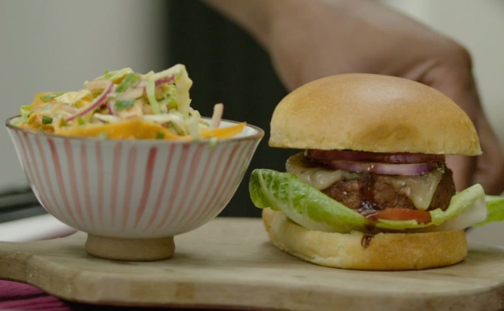 This Insane Korean-Inspired Burger Is The Perfect Evening Meal