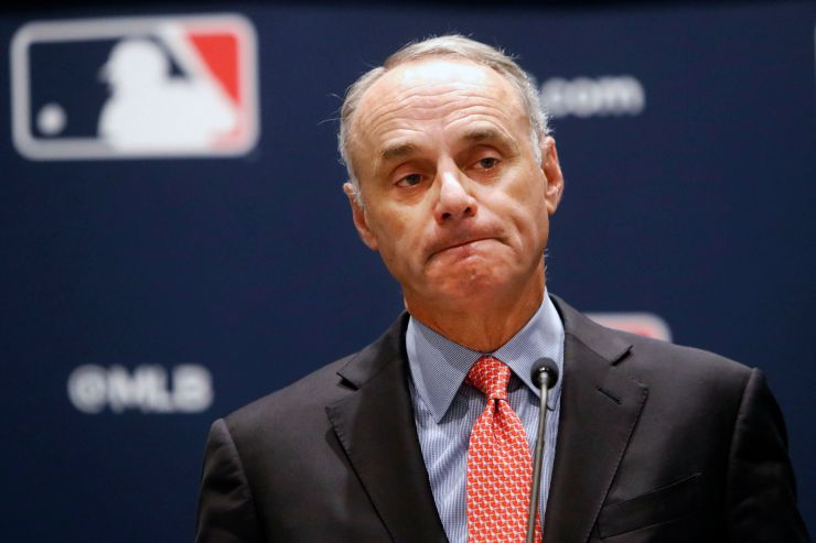 Laid-off workers at the Langham hotel in Pasadena, California, have asked Major League Baseball Commissioner Rob Manfred to h
