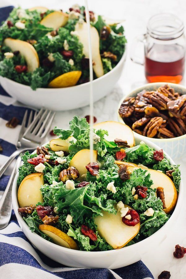 Pear and Gorgonzola Salad with Honey Apple Dressing from Jessica In The Kitchen