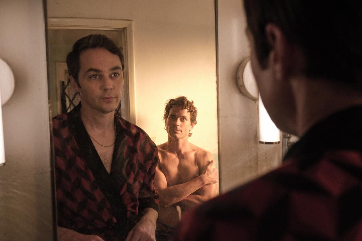 """Parsons (left) and Bomer in a scene from """"The Boys in the Band."""""""