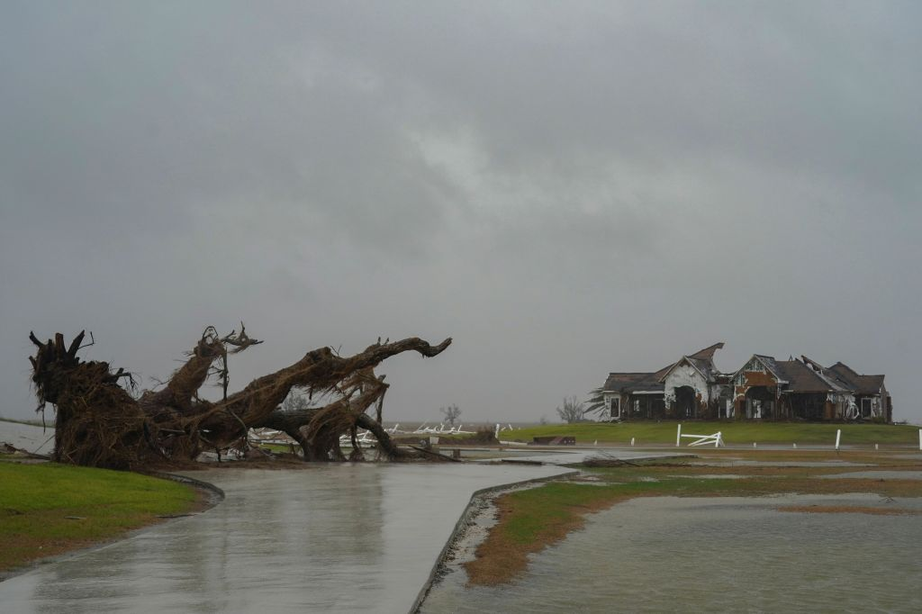In Pictures: Hurricane Delta Hits Storm-Battered Louisiana With 100mph Winds