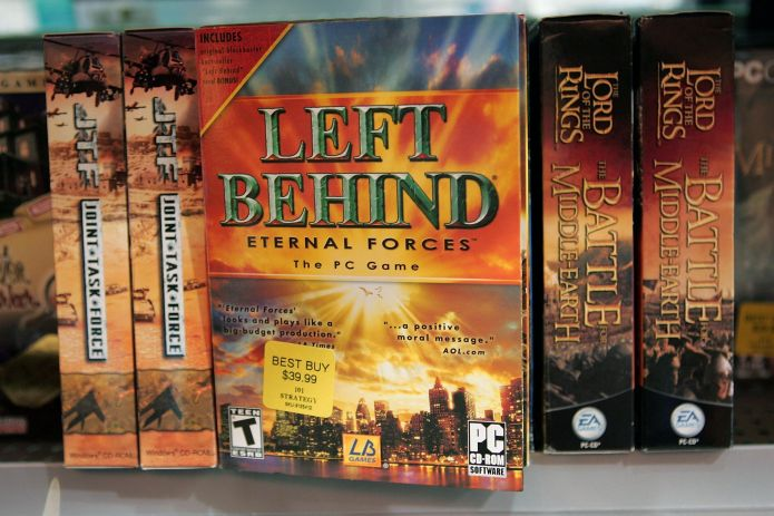 """Copies of """"Left Behind: Eternal Forces"""" video games, which are based on a popular series of Christian novels about the apocal"""