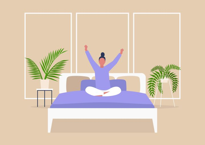 Doing gentle stretches in the morning can help undo the damage caused by sitting at a desk all day and weird sleeping positions at night.