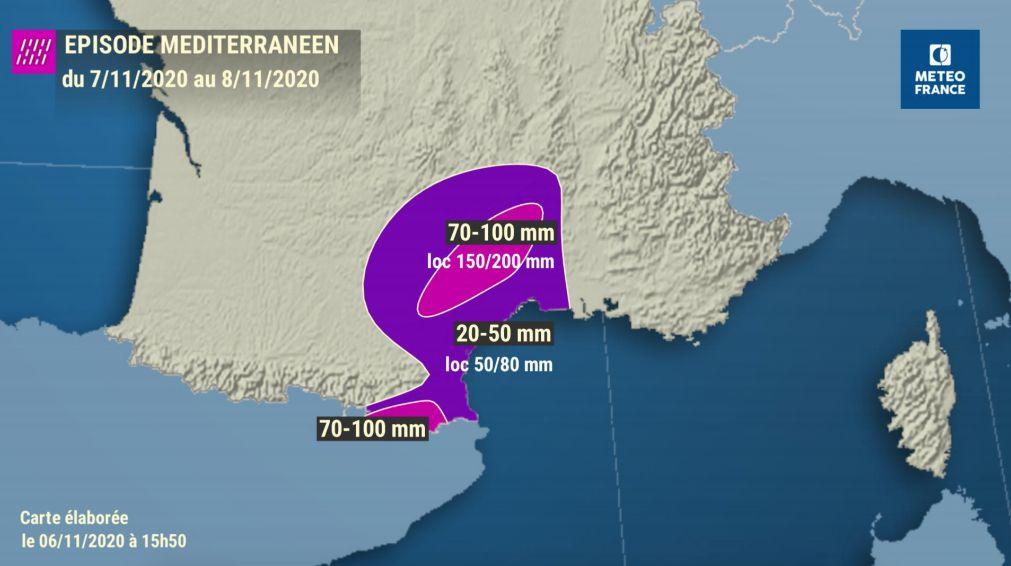 Des cumuls de pluie importants sont attendus en ce weekend des 7 et 8 novembre sur le Gard et l'Hérault