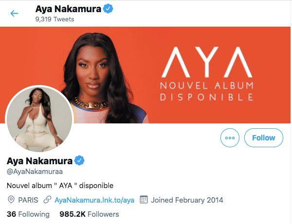 Compte Twitter d'Aya