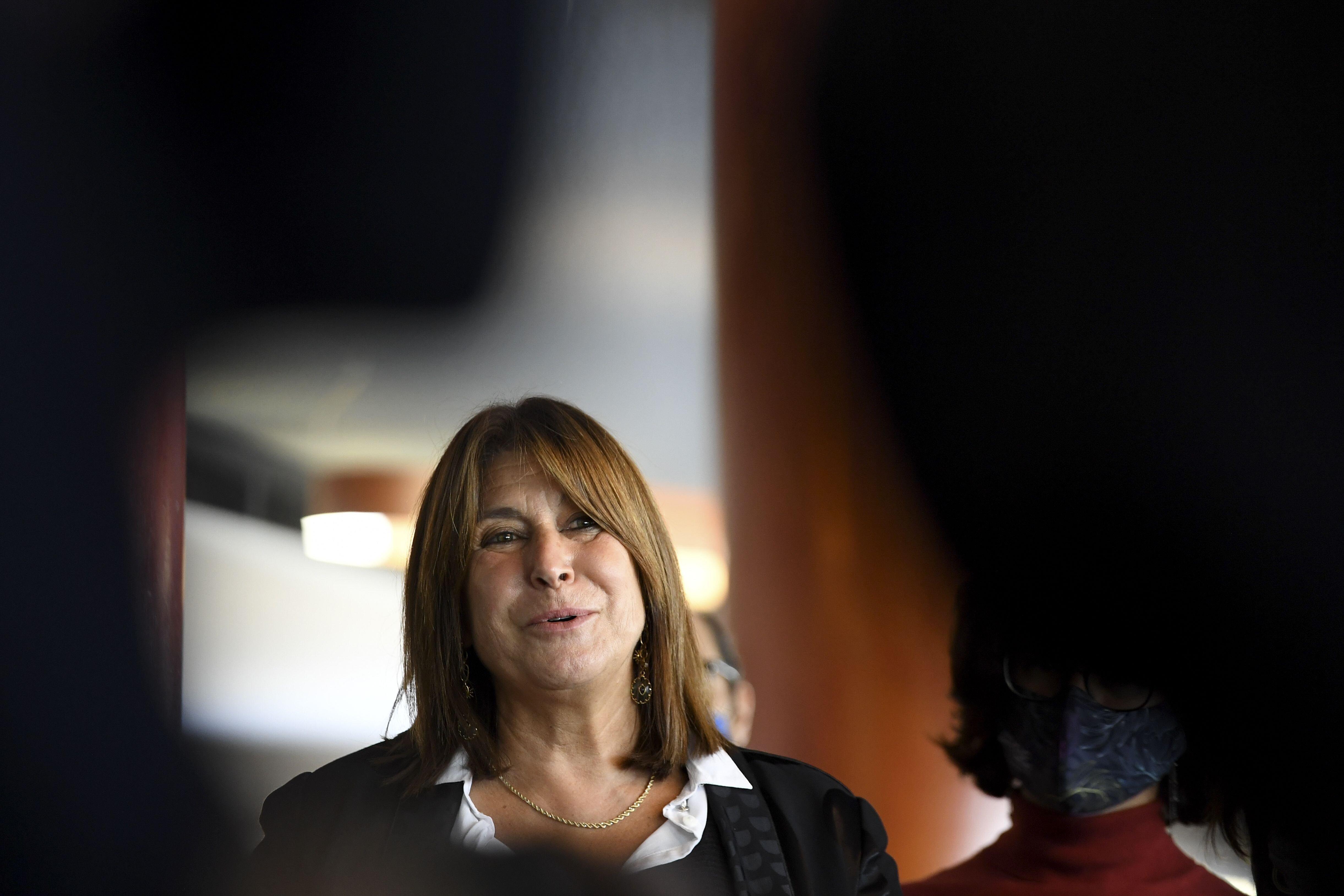 Michele Rubirola lors d'une conférence de presse à Marseille le 15 octobre