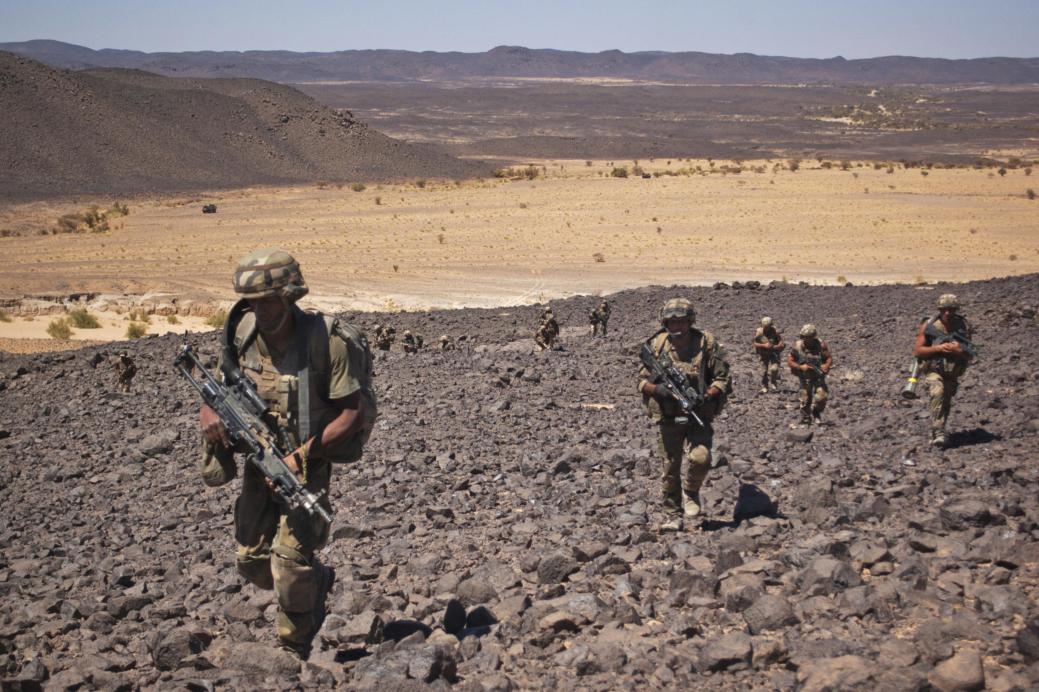 Trois soldats français tués en opération au Mali (Photo d'illustration de soldats...