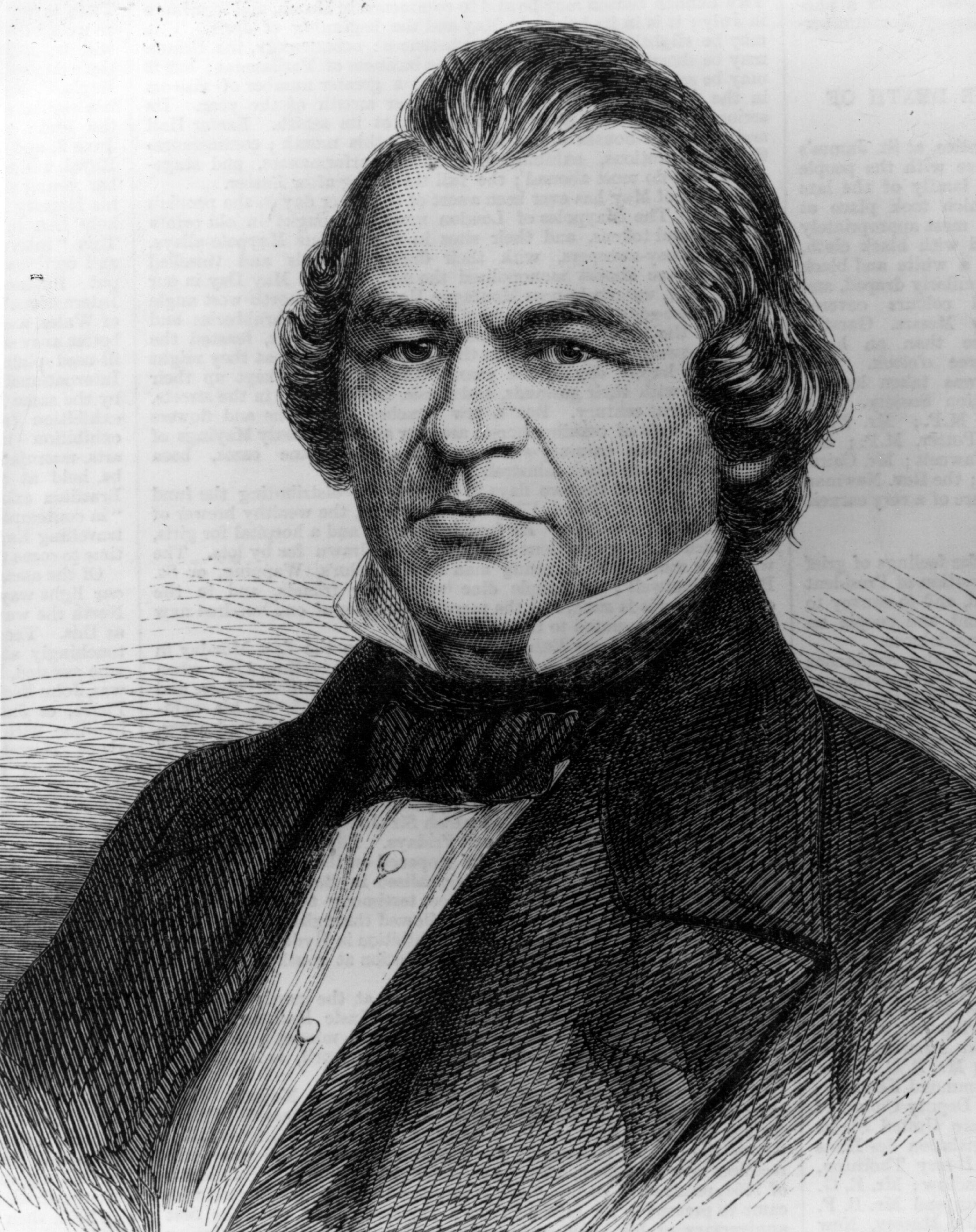 (Portrait d'Andrew Johnson (1808 - 1875). Photo par Hulton Archive/Getty