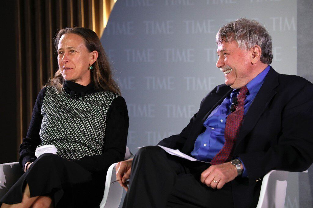 Le généticien et professeur à Harvard, Éric Lander (ici à droite), le 17 octobre 2019 à New York. in...