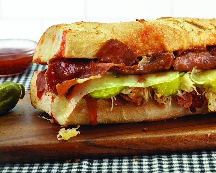 Quizno's Vegan Corned Beef Sandwich