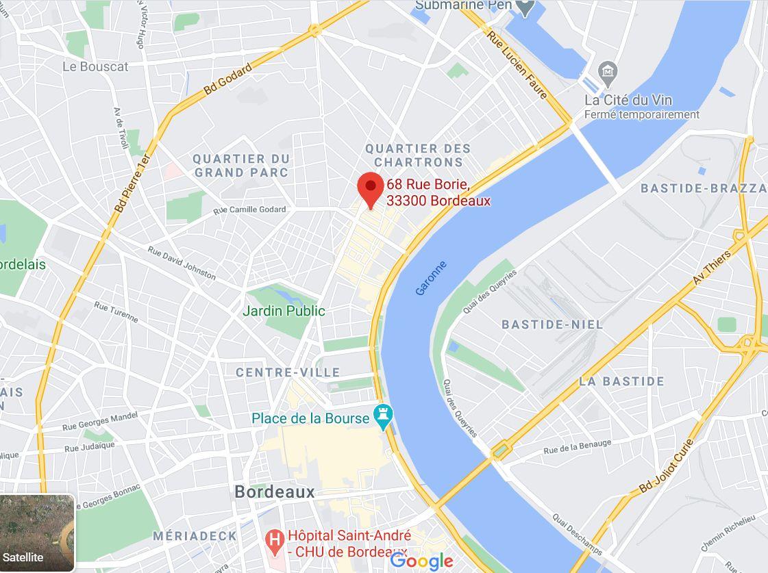 L'explosion a eu lieu rue Borie, dans le quartier des Chartrons, près du centre-ville de