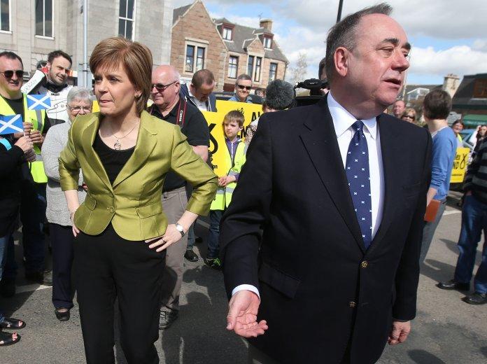Nicola Sturgeon with Alex Salmond in