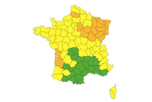 L'alerte neige et grand froid de Météo France se déplace vers