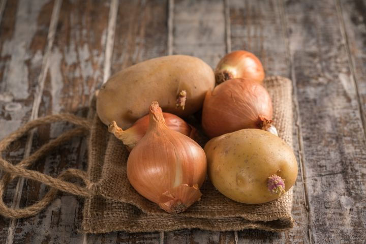When the weather gets colder, onions and potatoes actually get sweeter.