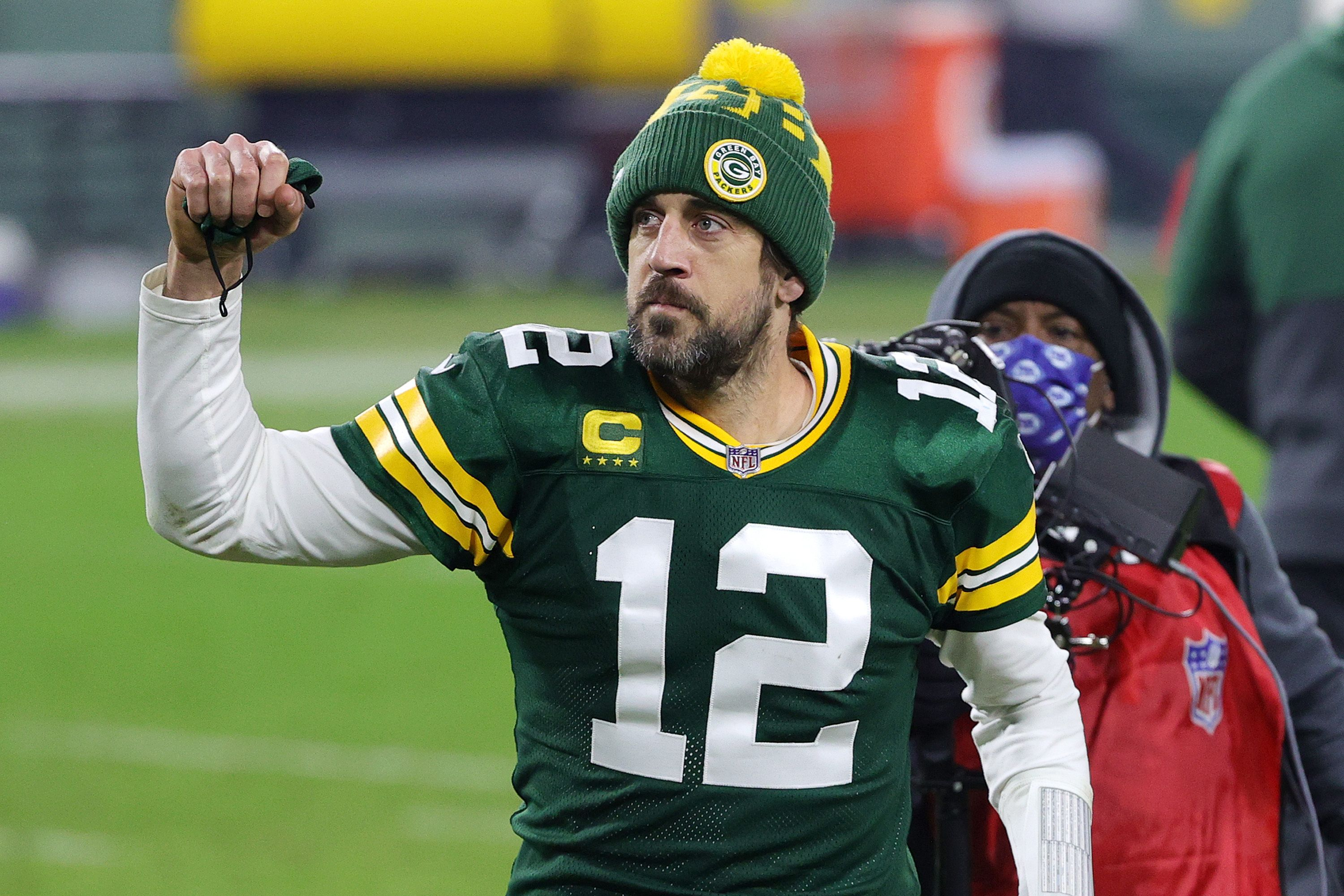 Green Bay Packers quarterback Aaron Rodgers was voted the NFL's Most Valuable Player for the 2020 season.