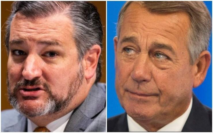 Ted Cruz and John Boehner: No love lost here.