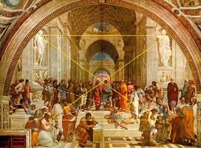 Η Σχολή των Αθηνών (1511), νωπογραφία...