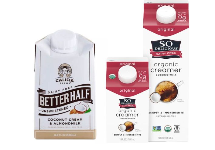 Califia Farms and So Delicious make popular coconut-based coffee creamers.