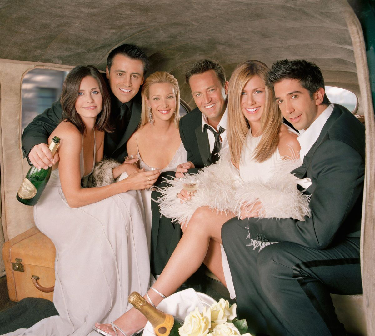 The cast of Friends pictured ahead of the show's last series in