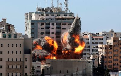 Israeli Airstrike On Gaza Destroys Building With Associated Press, Al Jazeera Bureaus
