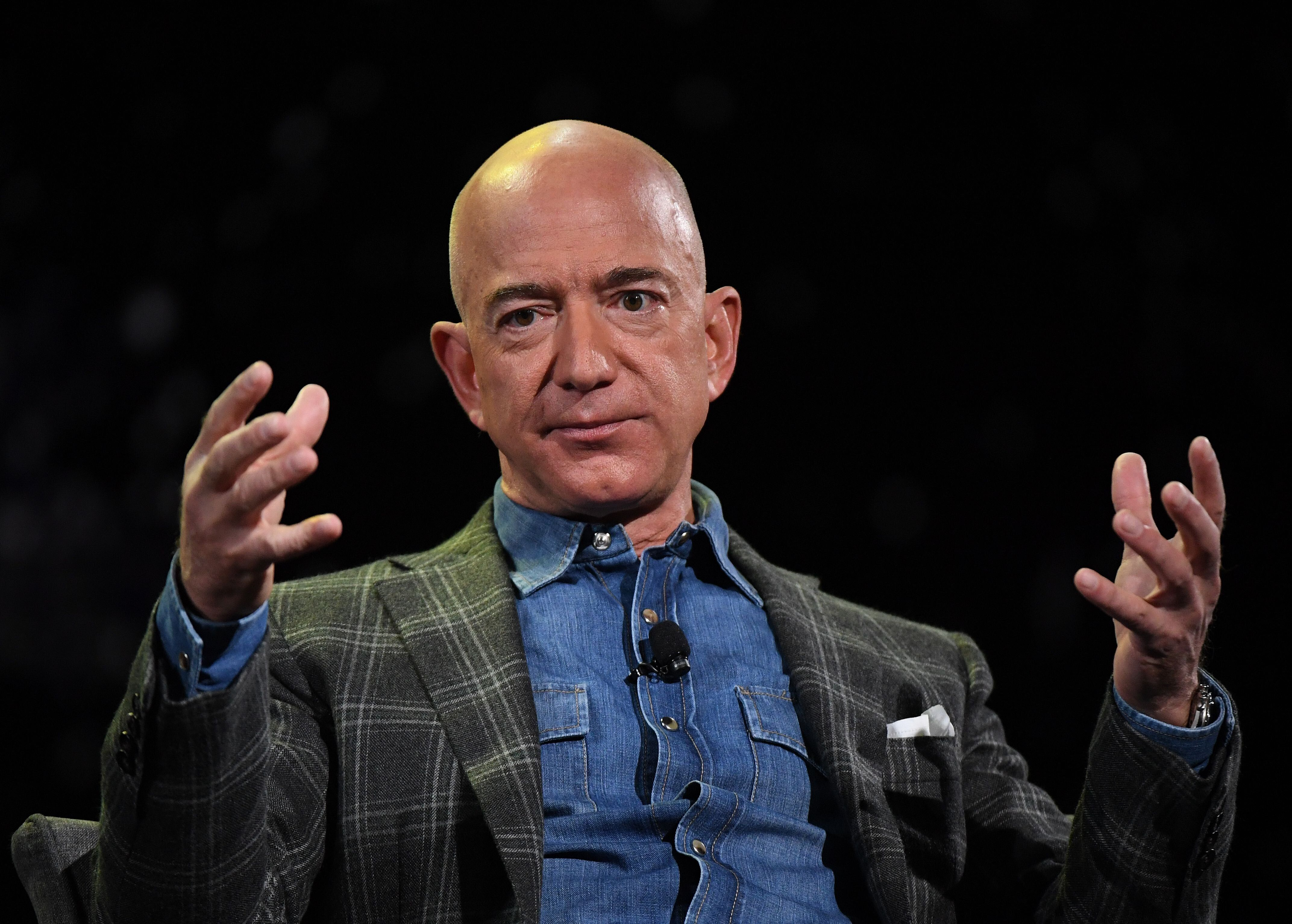 Amazon Founder and CEO Jeff Bezos in Las Vegas, Nevada on June 6, 2019. (Photo by Mark RALSTON / AFP) (Photo by MARK RALSTON/