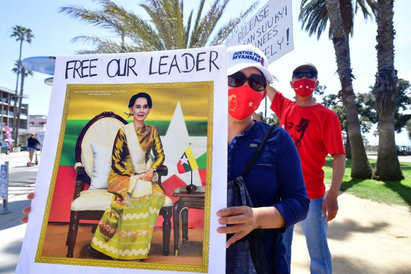 Myanmar has been in turmoil since the military ousted civilian leader Aung San Suu Kyi in February, with protesters ref