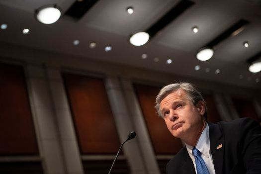 """FBI Director Christopher Wray testified on the Hill Tuesday that the agency is still pursuing """"hundreds"""" of suspe"""