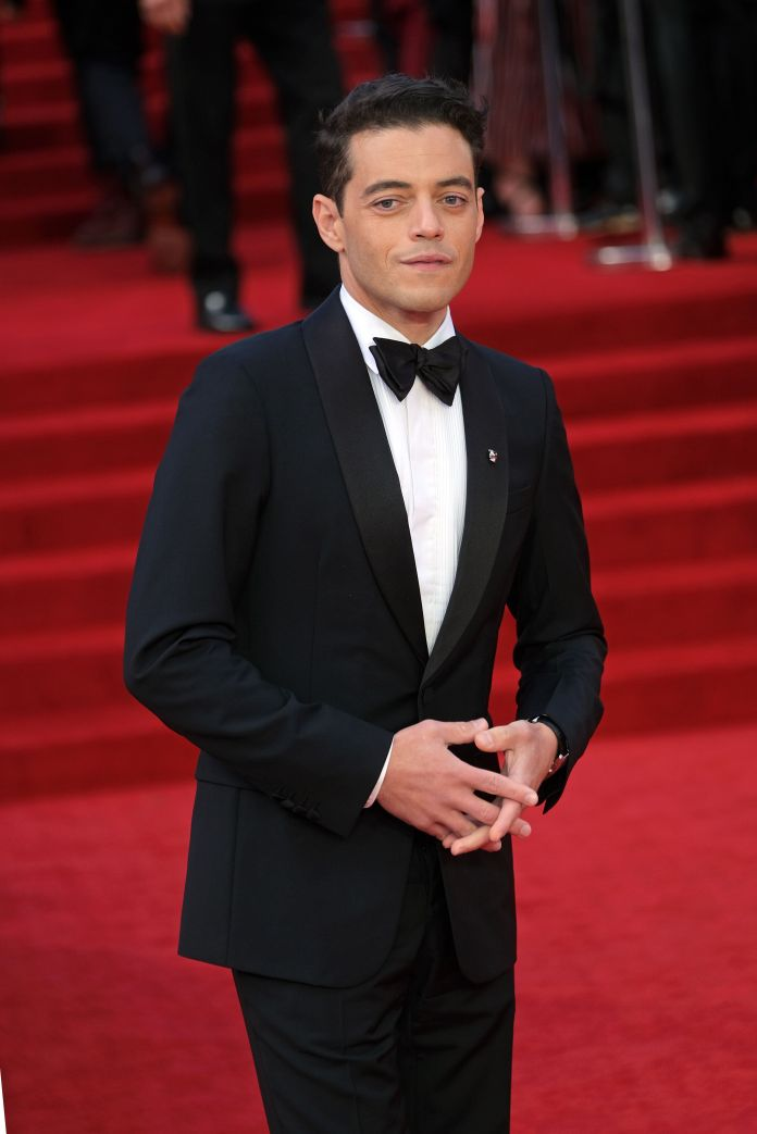 Rami Malek at the premiere of No Time To