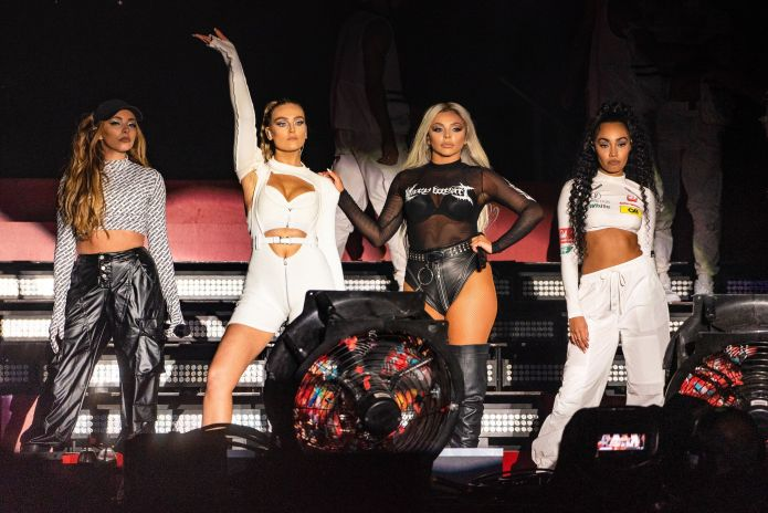 Little Mix performing as a four-piece in