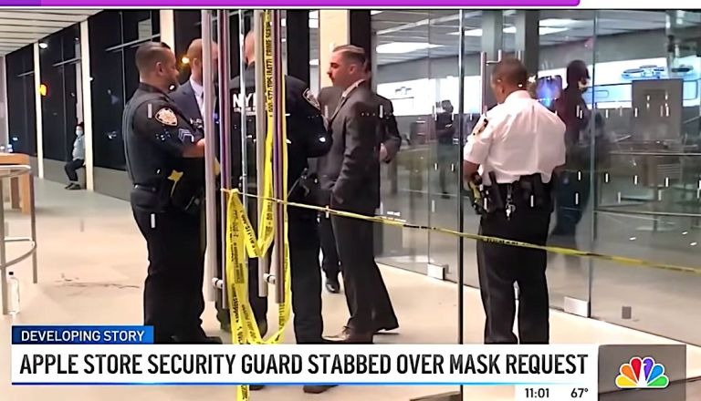 Manhattan Apple Store Security Guard Stabbed In COVID Mask Dispute