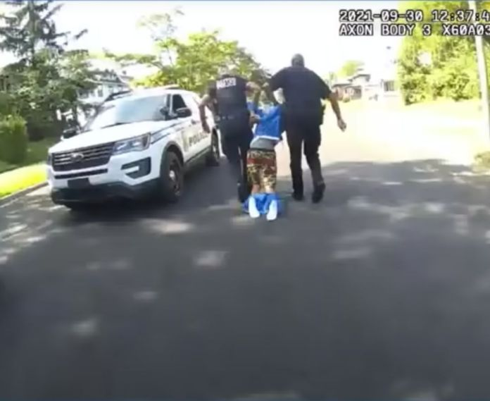Owensby was seen being dragged to the back of a police vehicle after officers accused him of disobeying orders.