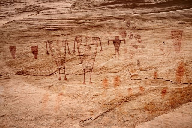 Ancient rock art in Sheiks Canyon, part of Bears Ears National Monument.