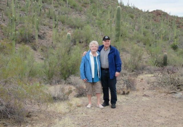 The author and Brenda in Arizona on their last trip together in 2018.