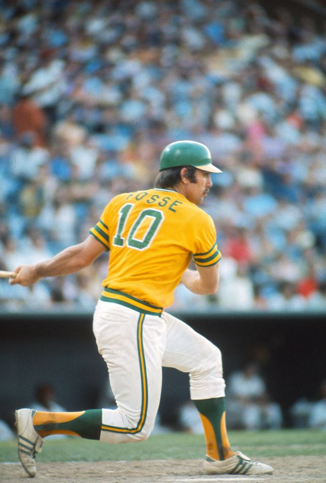 Ray Fosse at bat in a game for the Oakland A's in 1974.