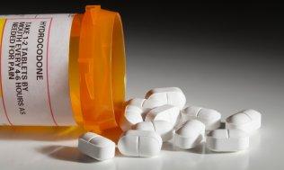 Spilled bottle of pills
