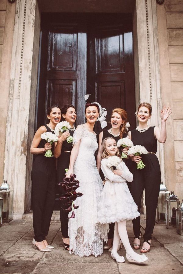 Bridal Party Who Rocked Some Unconventional Wedding Attire