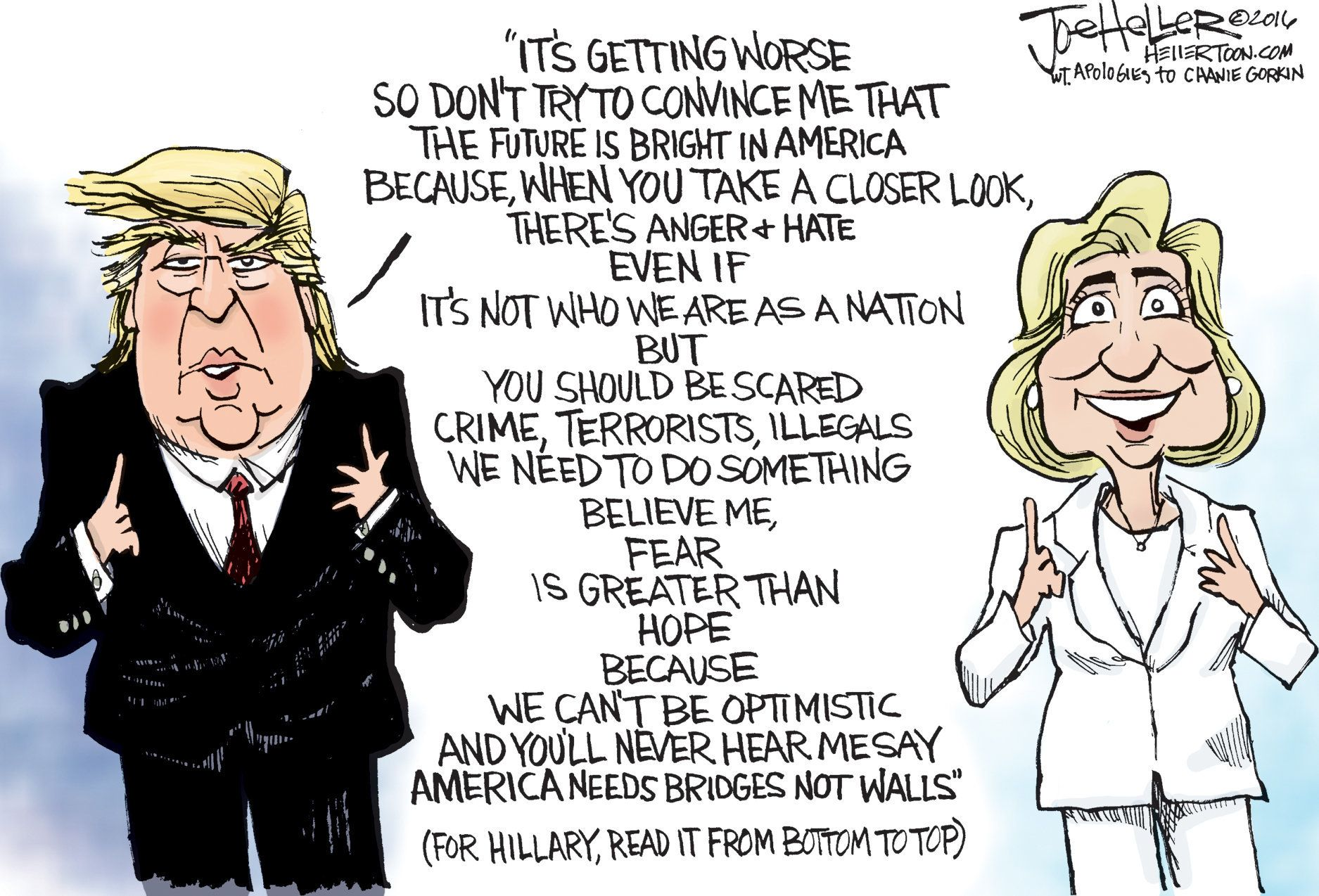 Image result for cartoons second presidential debate 2016 trump and clinton