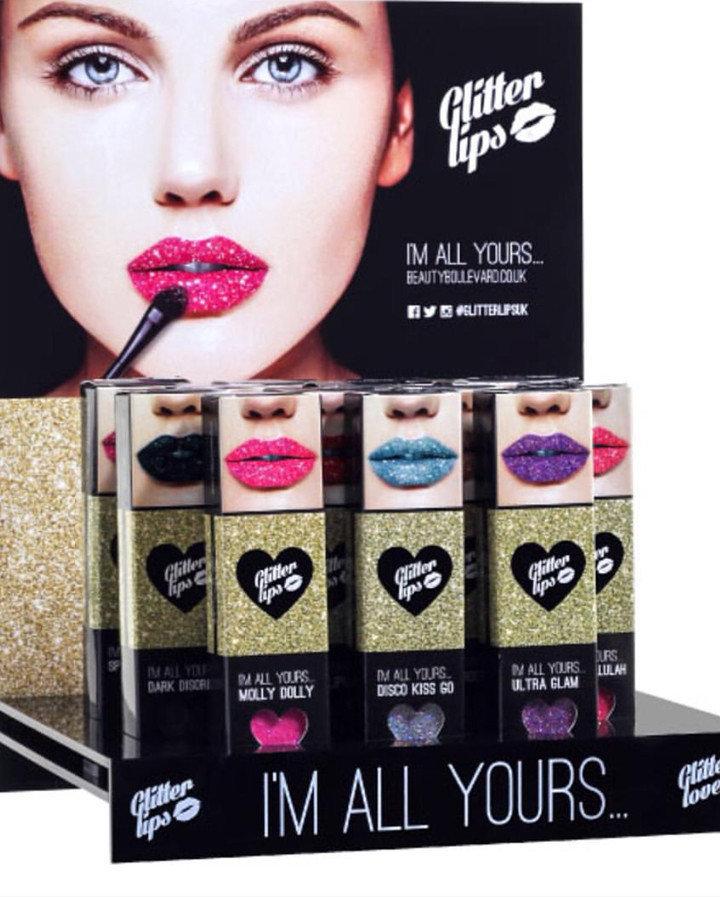 Image result for glitter lips