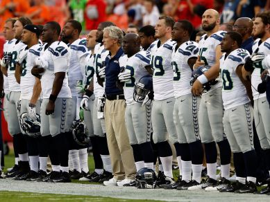 Will the Seahawks protest the National Anthem on Sunday?