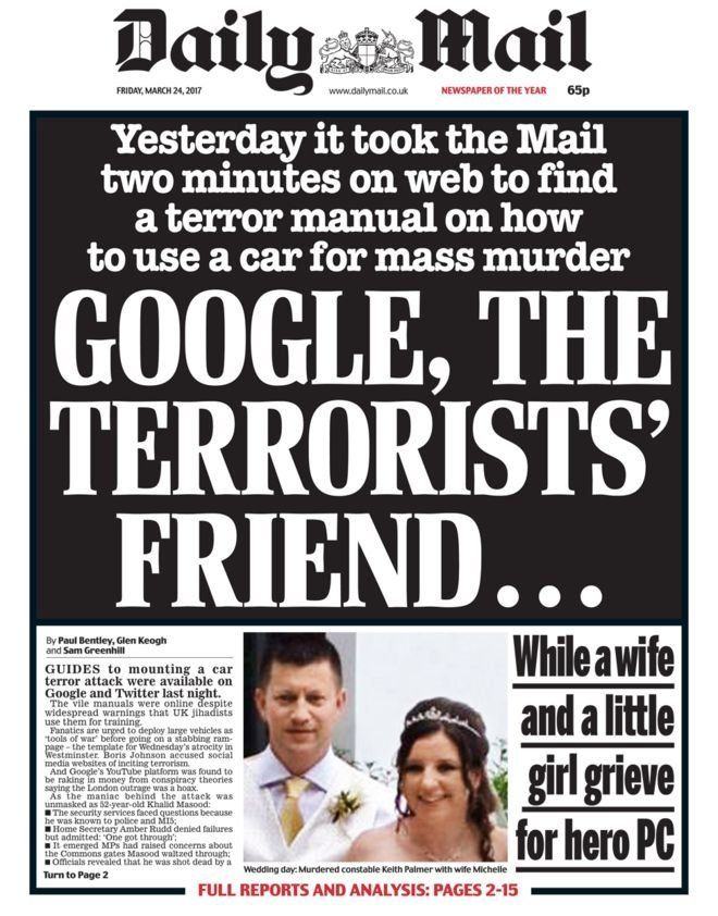 Daily Mail Front Page Causes Many To Mock Its Google Skills