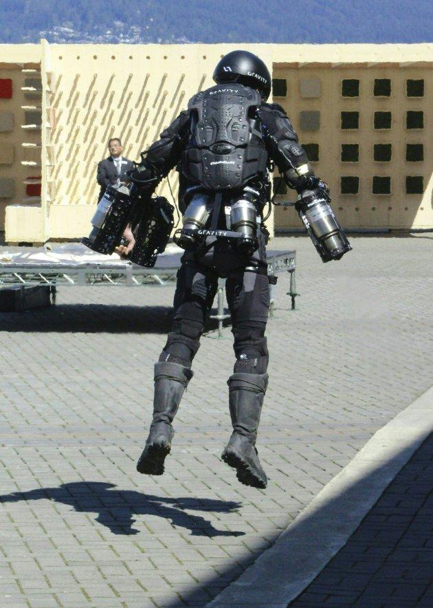 Iron Man demonstrates flying suit 2017