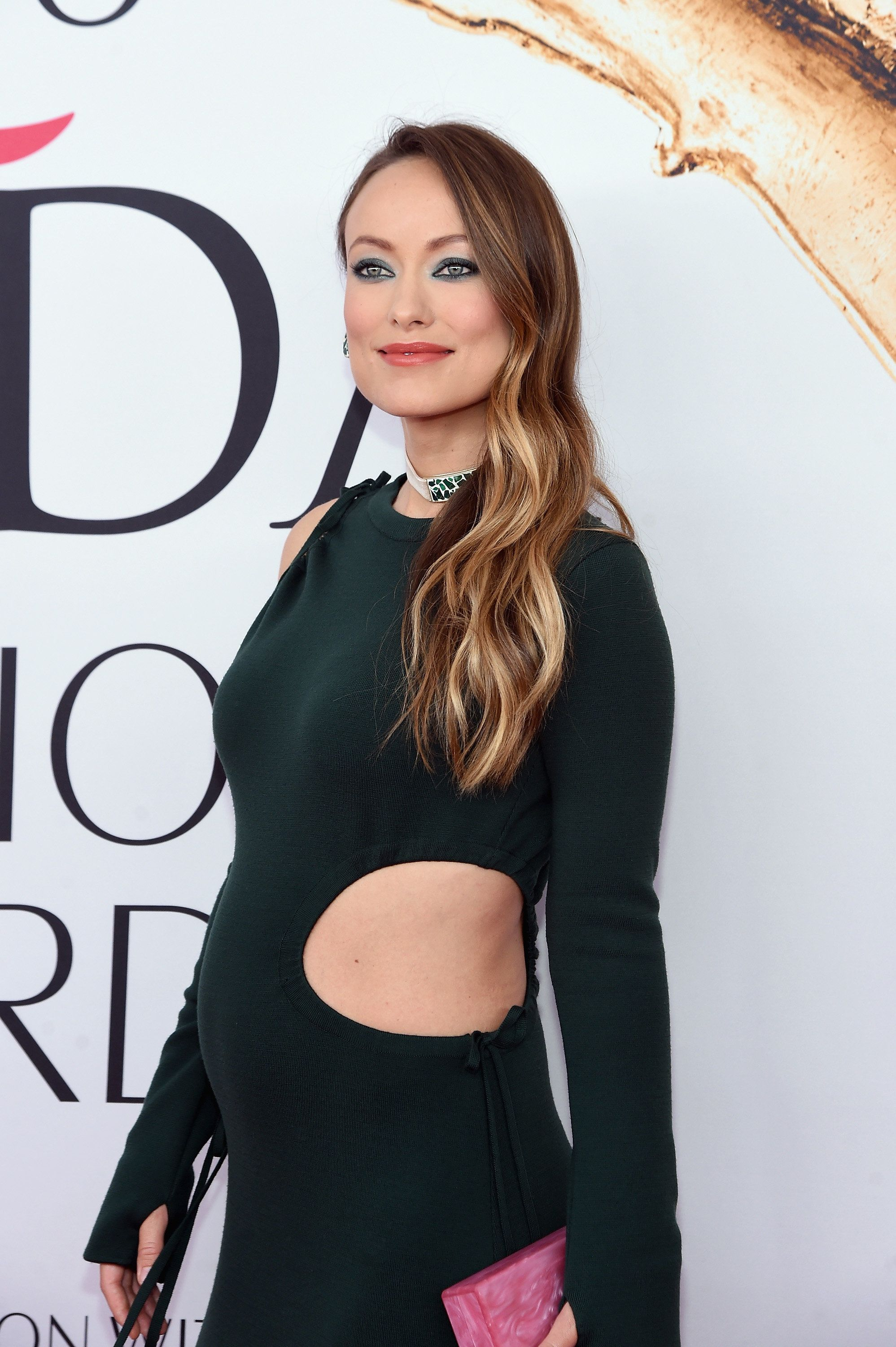 Pregnant Olivia Wilde Wows In A Strategically Cut Out Gown