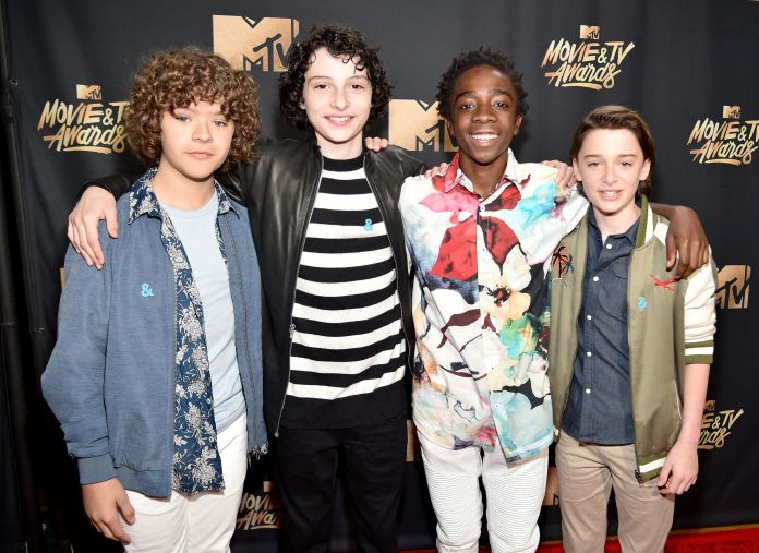 Of Course The 'Stranger Things' Kids Took Over The MTV Movie & TV Awards 590fb67a17000020005a5417