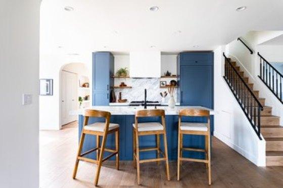 soft blue kitchen