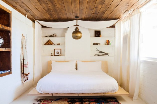 white and metallic bohemian color palette by The Joshua Tree House