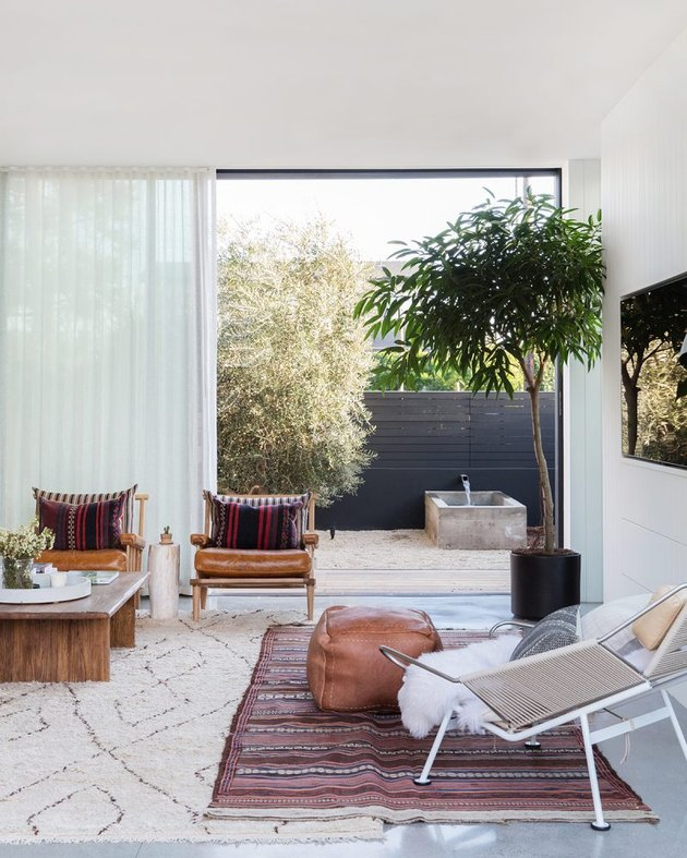 Desert Modern Living Room by Amber Interiors